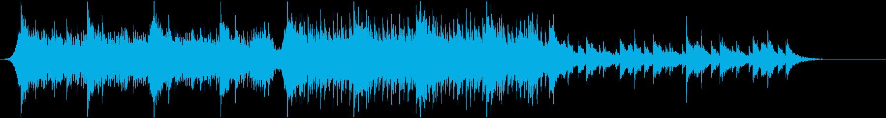 アコースティック系 切ない四つ打ちEDMの再生済みの波形