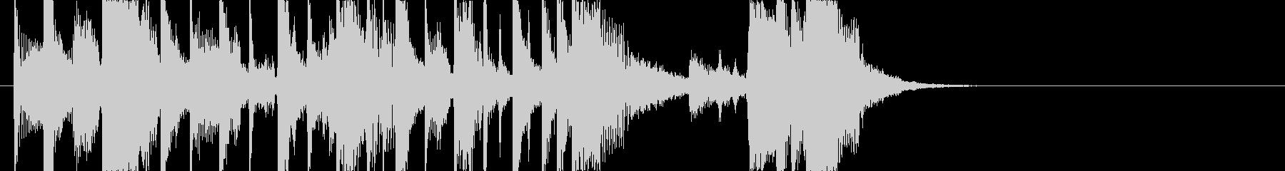 ファンクバンドのジングルの未再生の波形