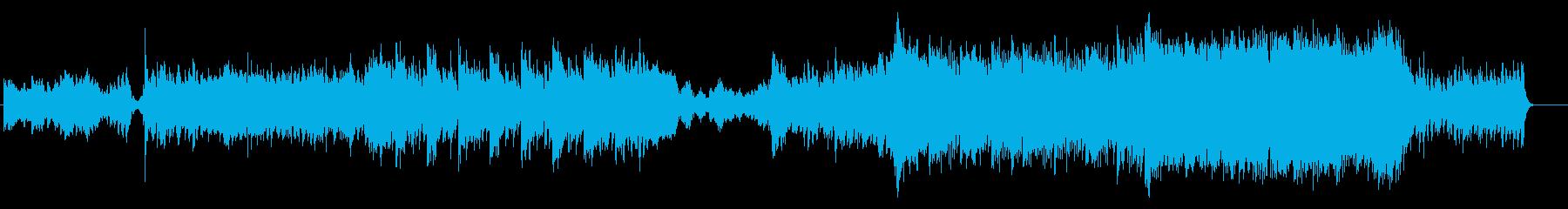 ゆっくりで壮大なバトルミュージックの再生済みの波形