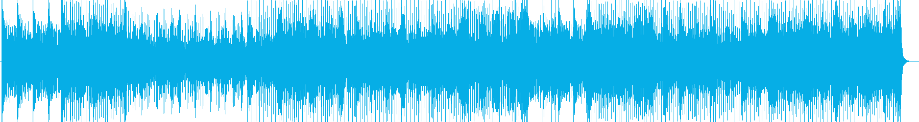 軽やかなシンセサイザー曲の再生済みの波形