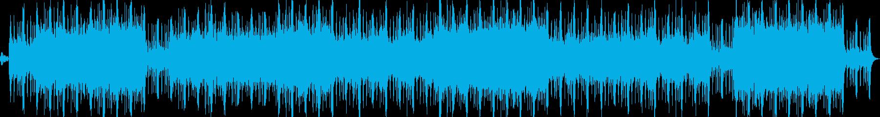 和太鼓が軽快な和風ロックですの再生済みの波形