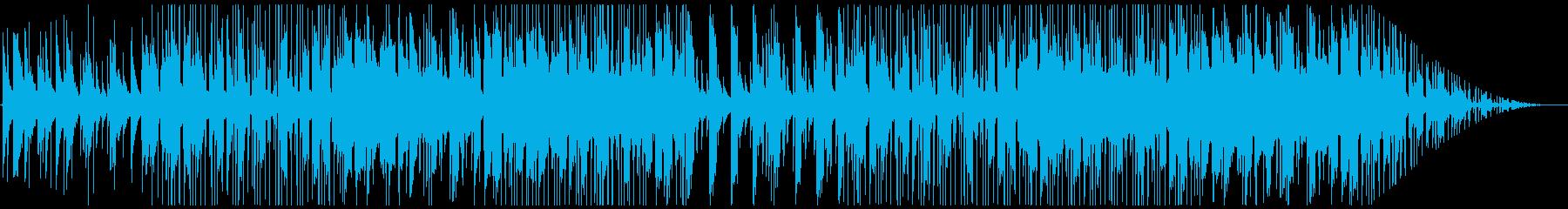 レトロなピアノとストリングスのチルホップの再生済みの波形