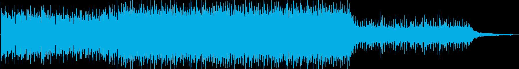ポジティブなライトロックBGMの再生済みの波形