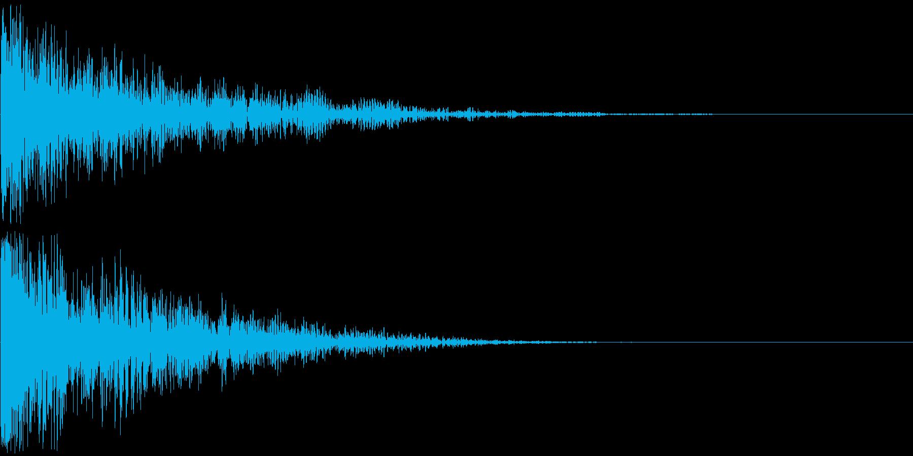 【ゲーム】ガンアクション_14 銃発砲の再生済みの波形