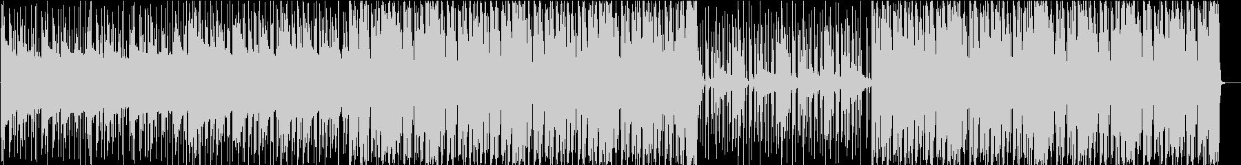 ビート感が強いピアノハウスの未再生の波形