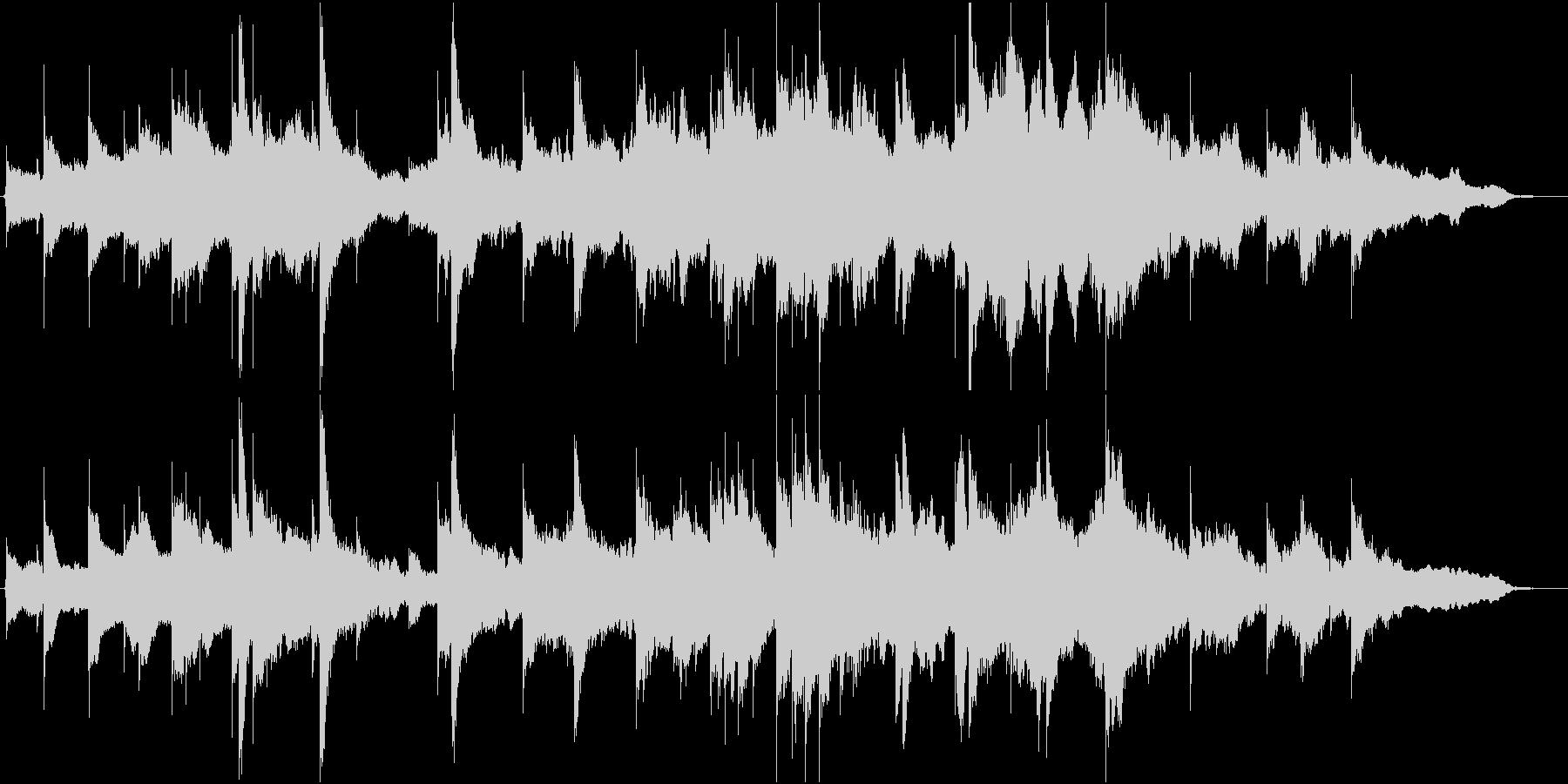 静かなインスト曲の未再生の波形