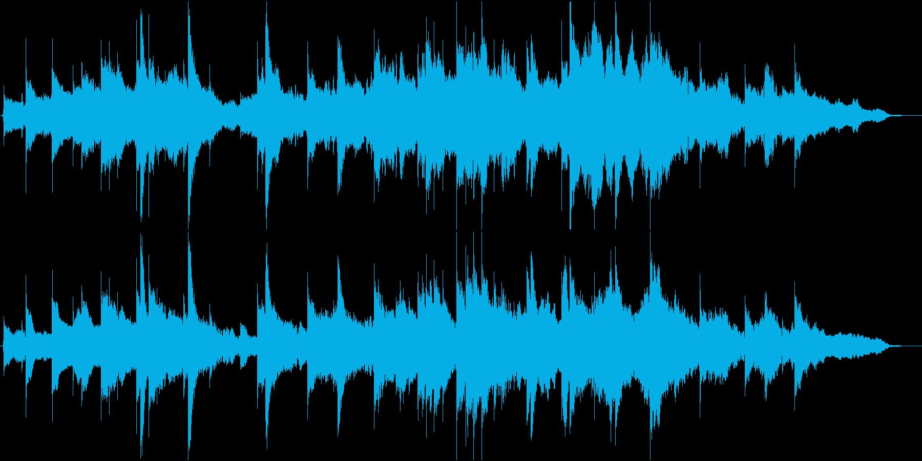 静かなインスト曲の再生済みの波形