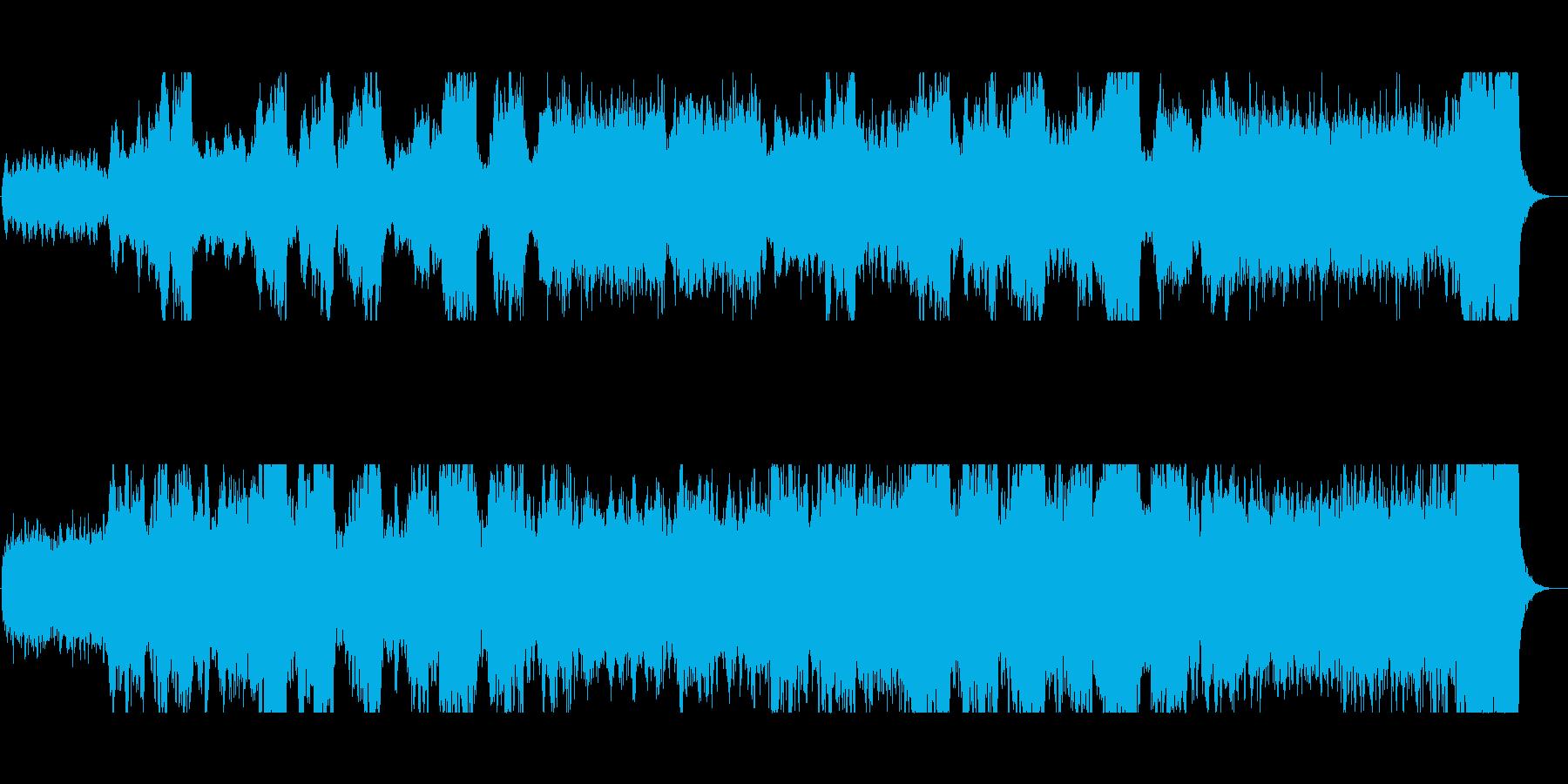 暗黒の魔城 ダーク、ホラー向けBGMの再生済みの波形