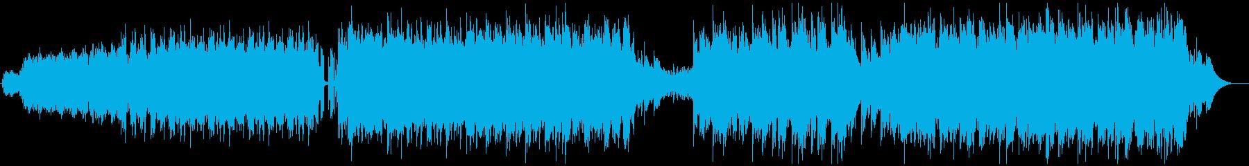 多重エレキギターによるポップなミニマルの再生済みの波形