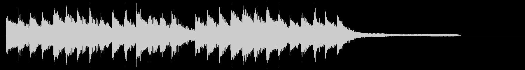 CM15秒、優しく感動的なピアノソロ13の未再生の波形