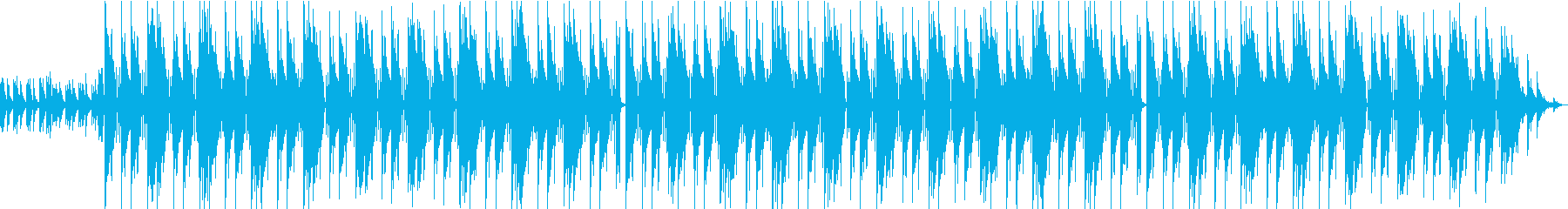 優しい感じのビートの再生済みの波形