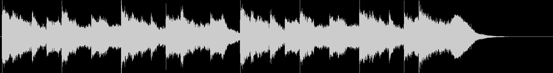 切ない雰囲気の曲の未再生の波形