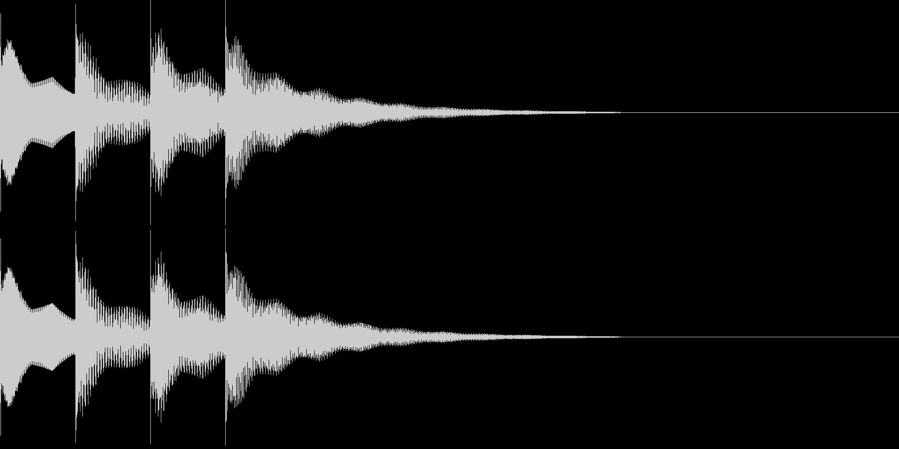 ピンポンパンポン上昇の未再生の波形