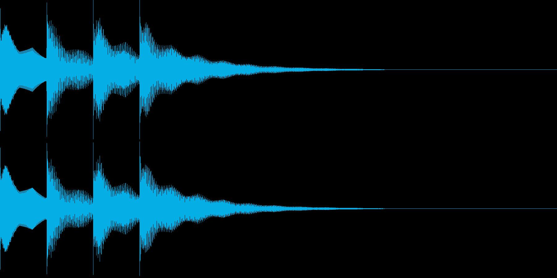 ピンポンパンポン上昇の再生済みの波形