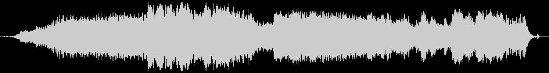 無調で統合性のない音響空間作品の未再生の波形