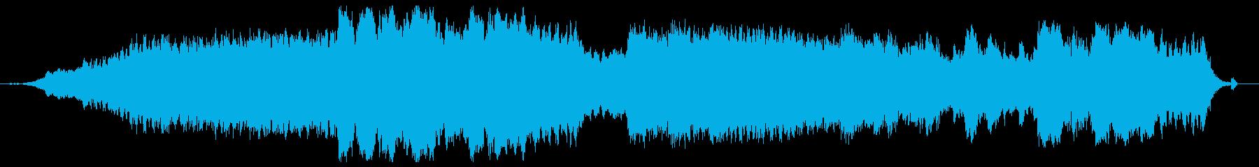 無調で統合性のない音響空間作品の再生済みの波形