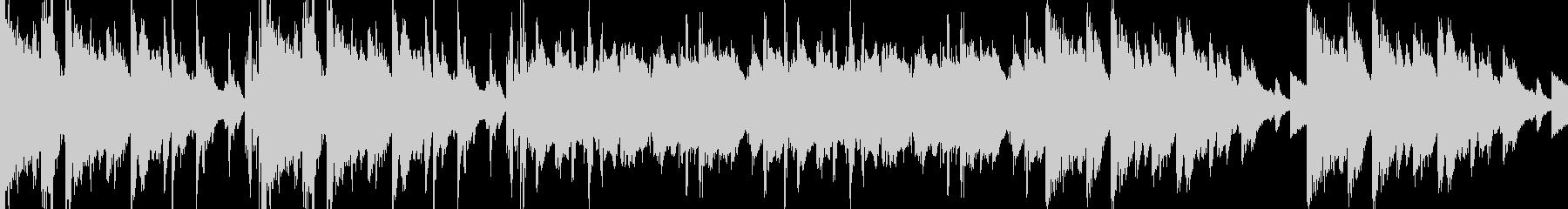 カットアップされたピアノとエレクトロニカの未再生の波形