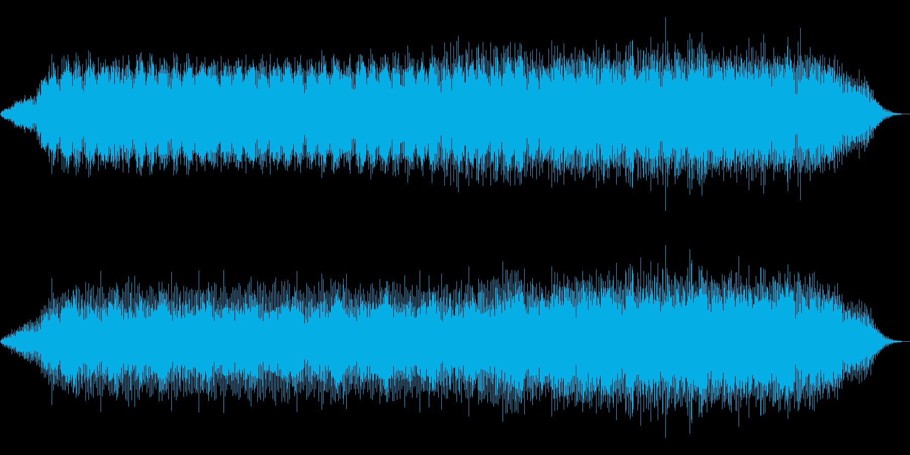 雨の時間の再生済みの波形