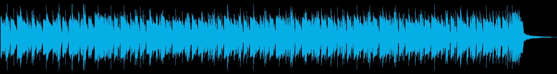 サスペンスドラマにありそうなハウスBGMの再生済みの波形