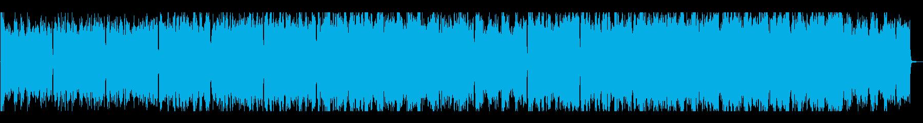 暗く悲しげな雰囲気のBGMの再生済みの波形