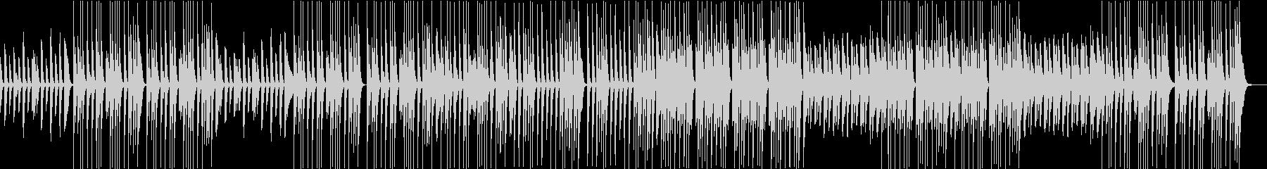ほんわかしたゆるいピアノとマリンバ主体のの未再生の波形