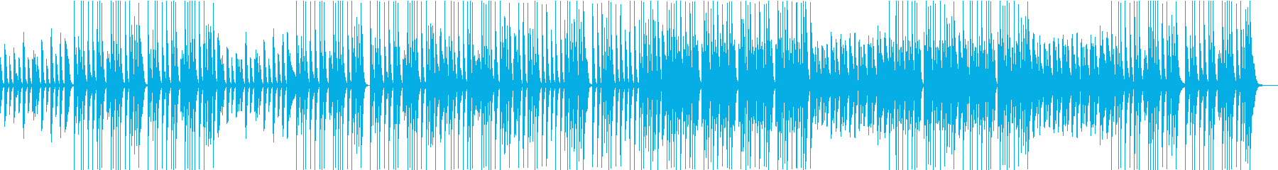 ほんわかしたゆるいピアノとマリンバ主体のの再生済みの波形
