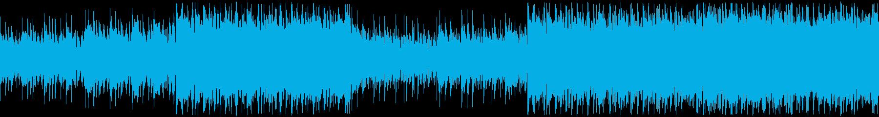 和風・凛としたかっこいい映像・ループの再生済みの波形