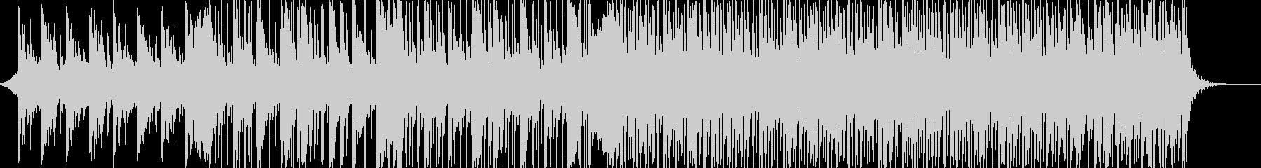 暖かくお洒落なピアノ中心の電子楽曲の未再生の波形