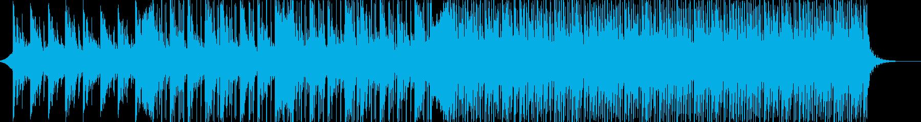 暖かくお洒落なピアノ中心の電子楽曲の再生済みの波形