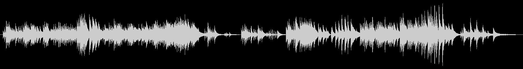 心安らぐピアノソロの未再生の波形