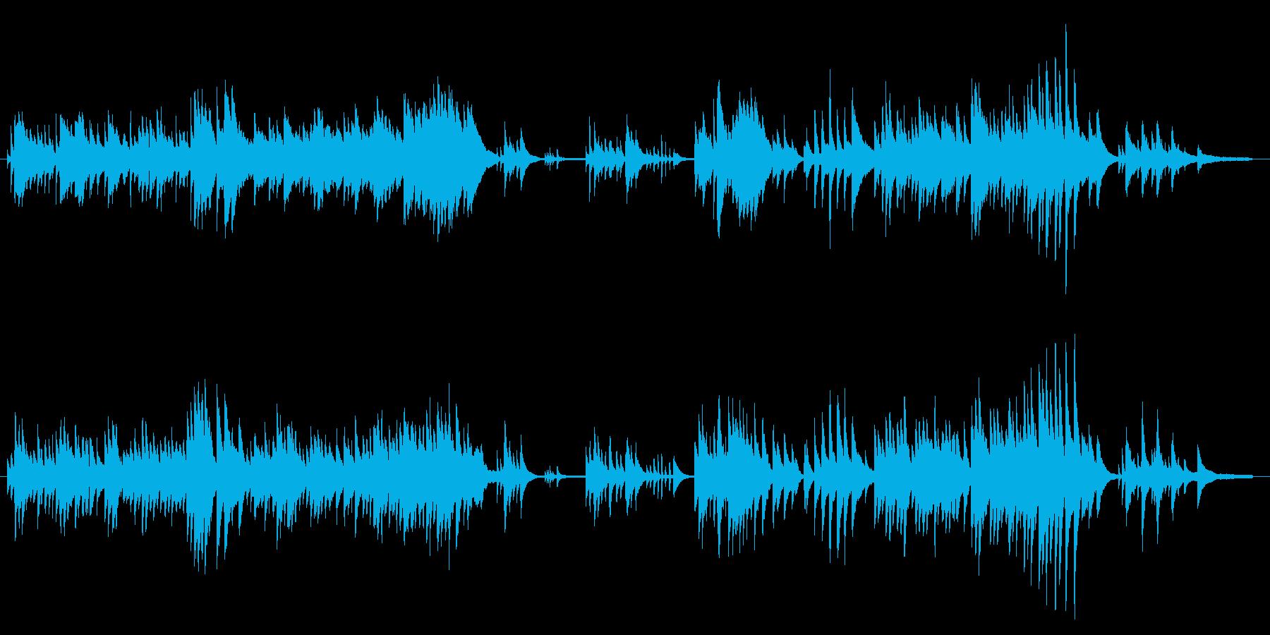 心安らぐピアノソロの再生済みの波形