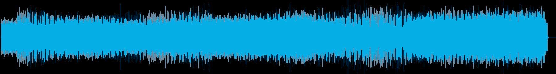 コミカルな電子音テクノ風サウンドの再生済みの波形