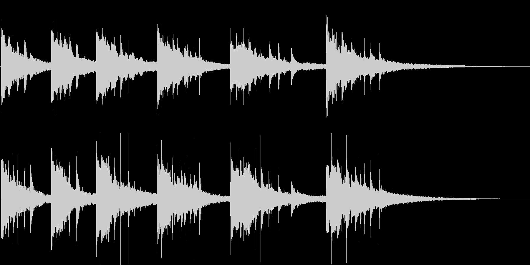 疑惑、不穏な雰囲気のピアノソロ曲の未再生の波形