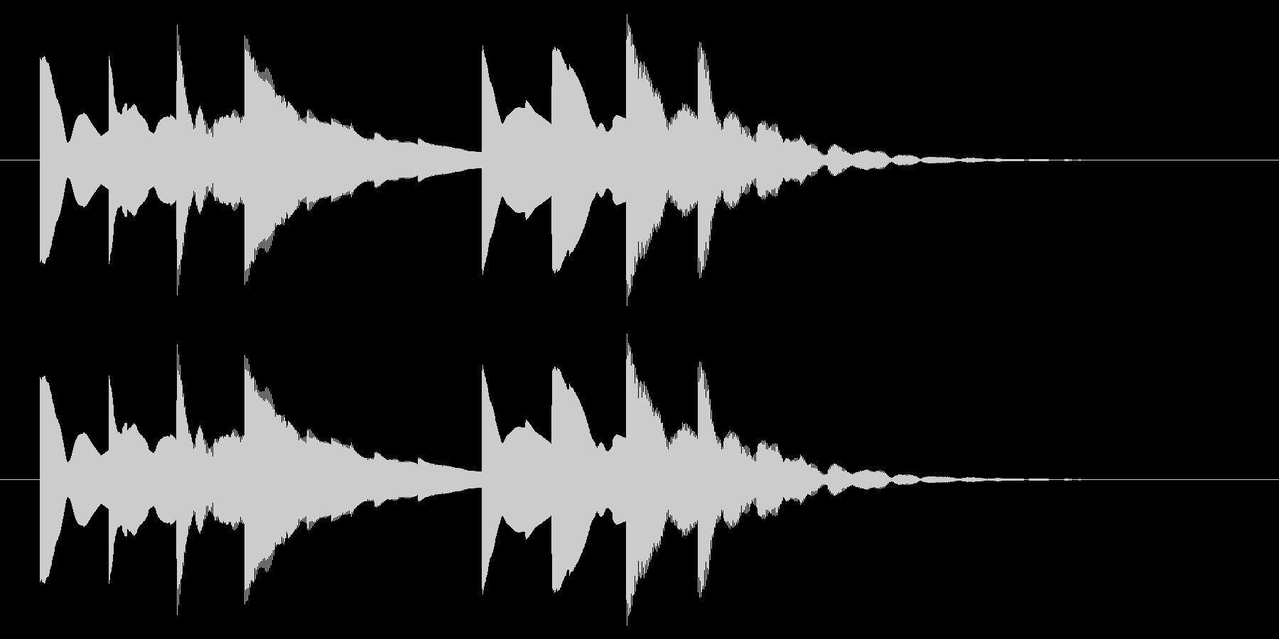 始業・終業 学校のチャイム(電子音)の未再生の波形