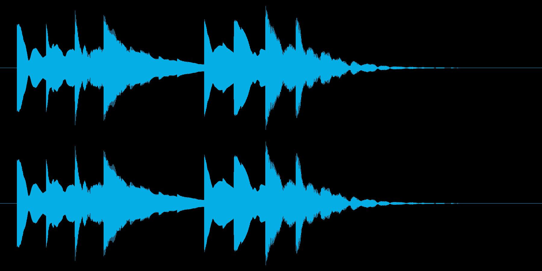 始業・終業 学校のチャイム(電子音)の再生済みの波形