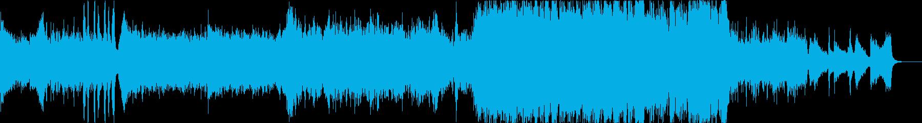 クワイア音源を使用した緊張感のある楽曲の再生済みの波形