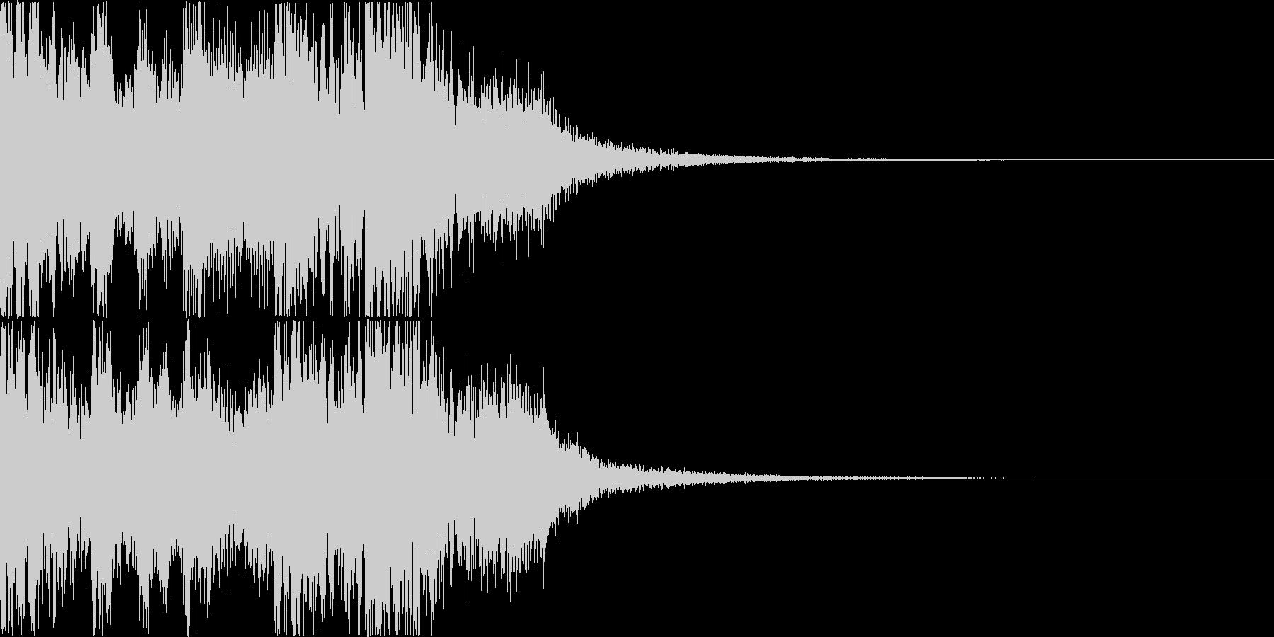 三味線・箏・尺八・和太鼓・ジングル01の未再生の波形