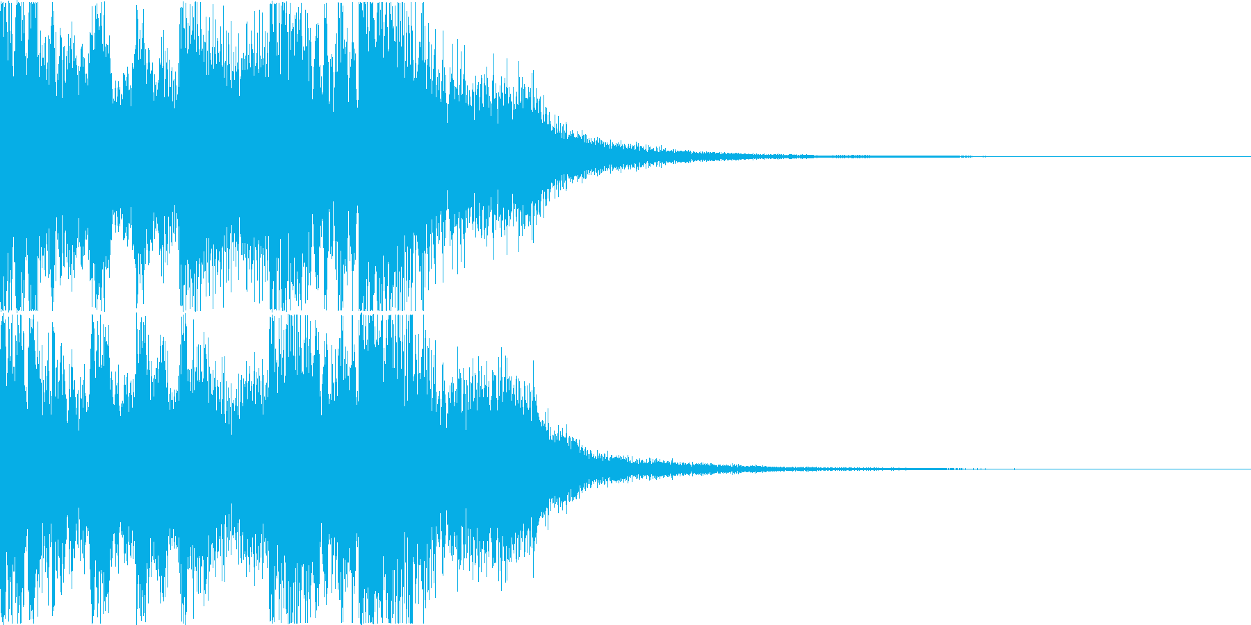 三味線・箏・尺八・和太鼓・ジングル01の再生済みの波形