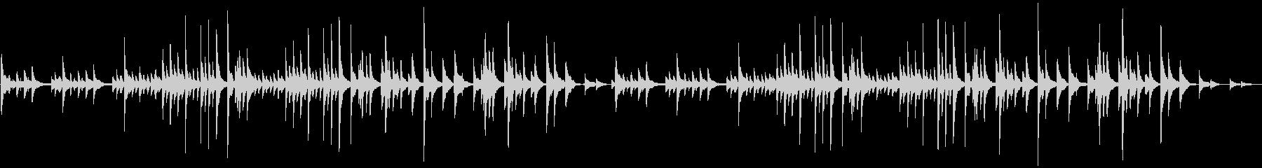 ピアノソロの切ない・悲しいBGMの未再生の波形