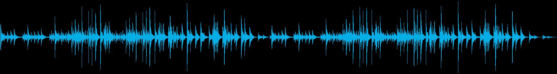 ピアノソロの切ない・悲しいBGMの再生済みの波形