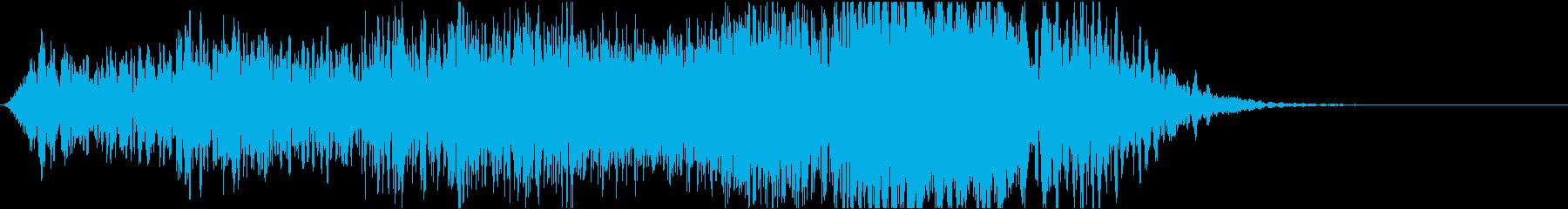 ホラー系効果音02の再生済みの波形