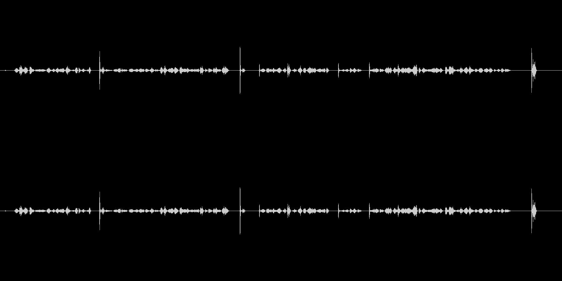 カキカキ(鉛筆で文字を書く音)木の板Cuの未再生の波形