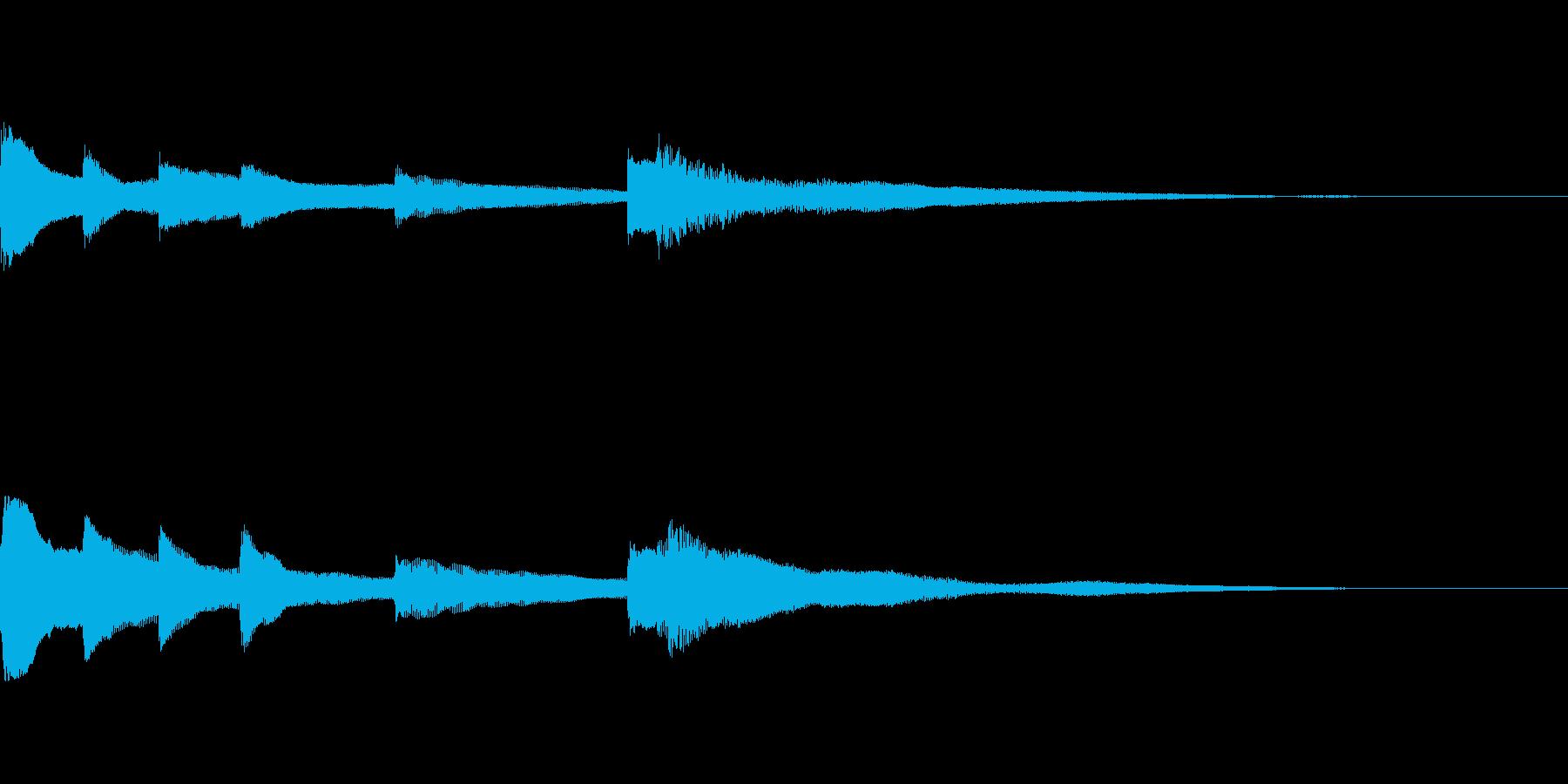 優雅なメロディのピアノサウンドジングルの再生済みの波形
