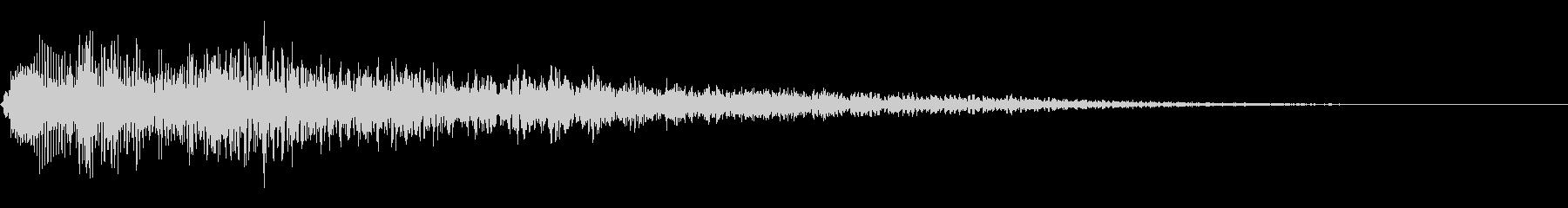 ゴージャスなキャンセル音1の未再生の波形