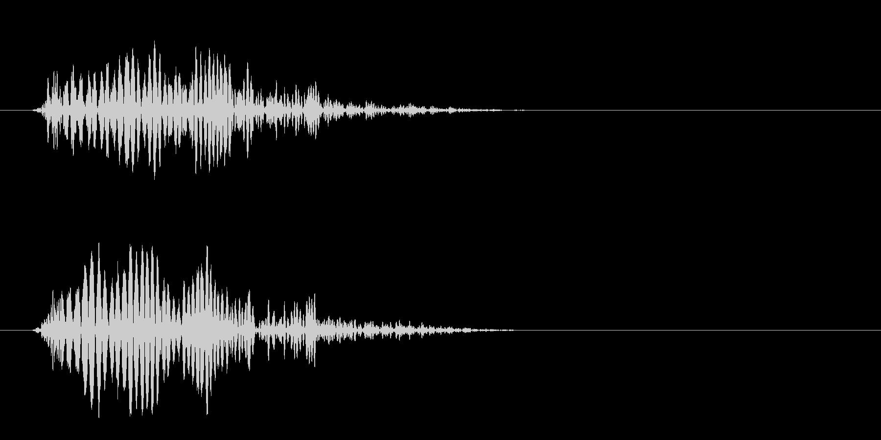 ポヨン(低い障害物を飛び越える効果音)の未再生の波形