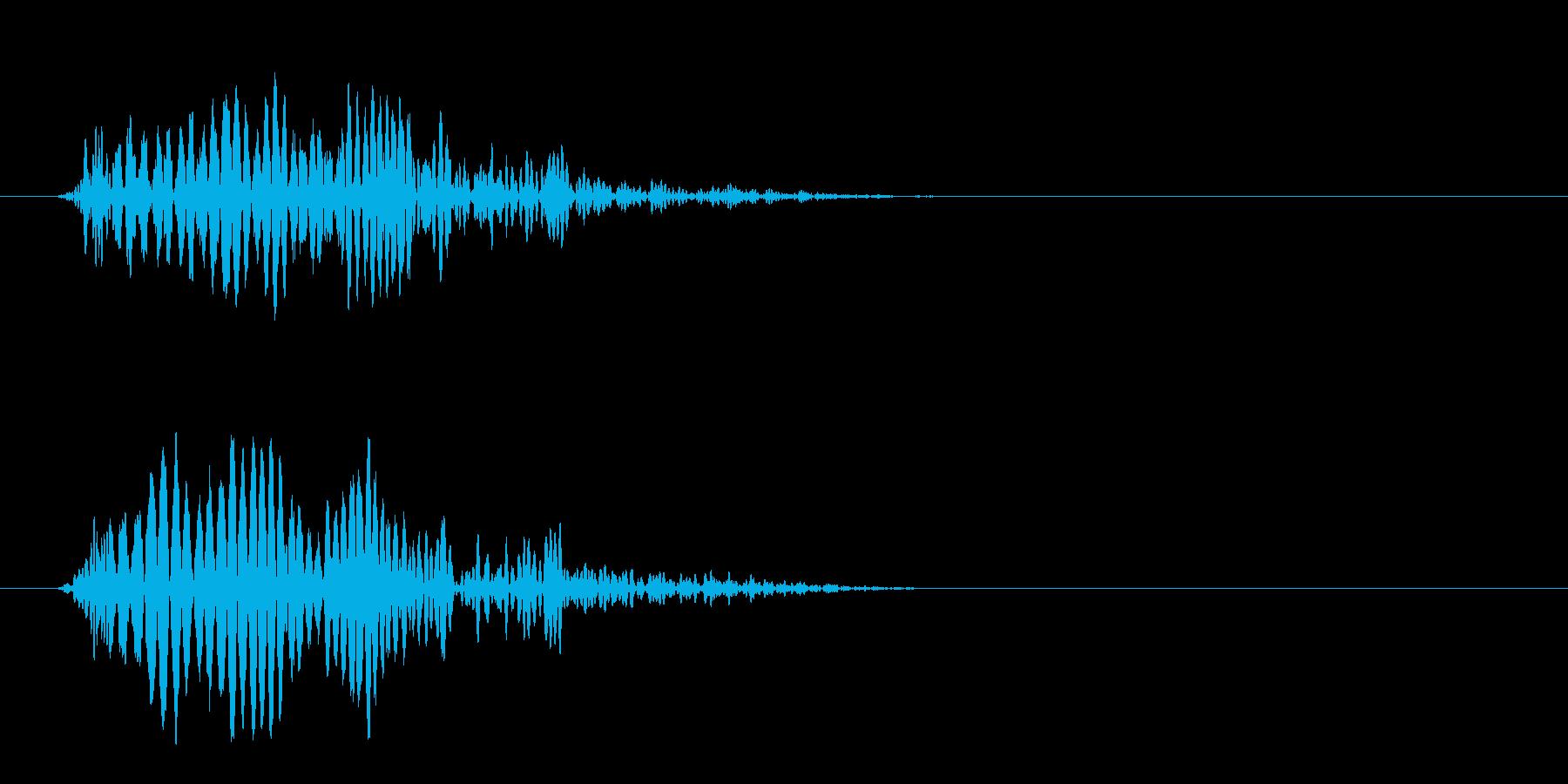 ポヨン(低い障害物を飛び越える効果音)の再生済みの波形