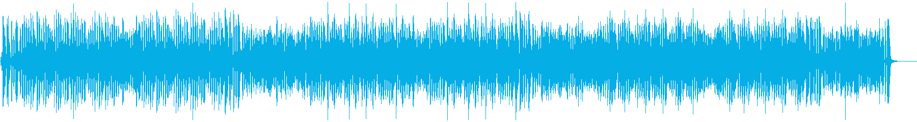 テンポ速めの「きらきら星」の再生済みの波形