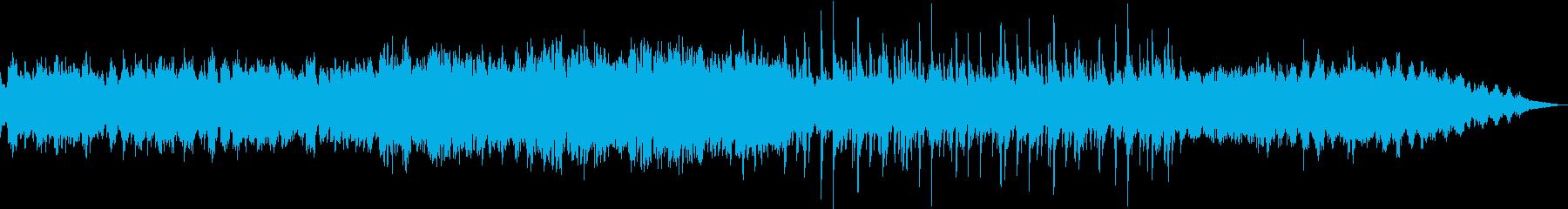 癒し系のBGMの再生済みの波形