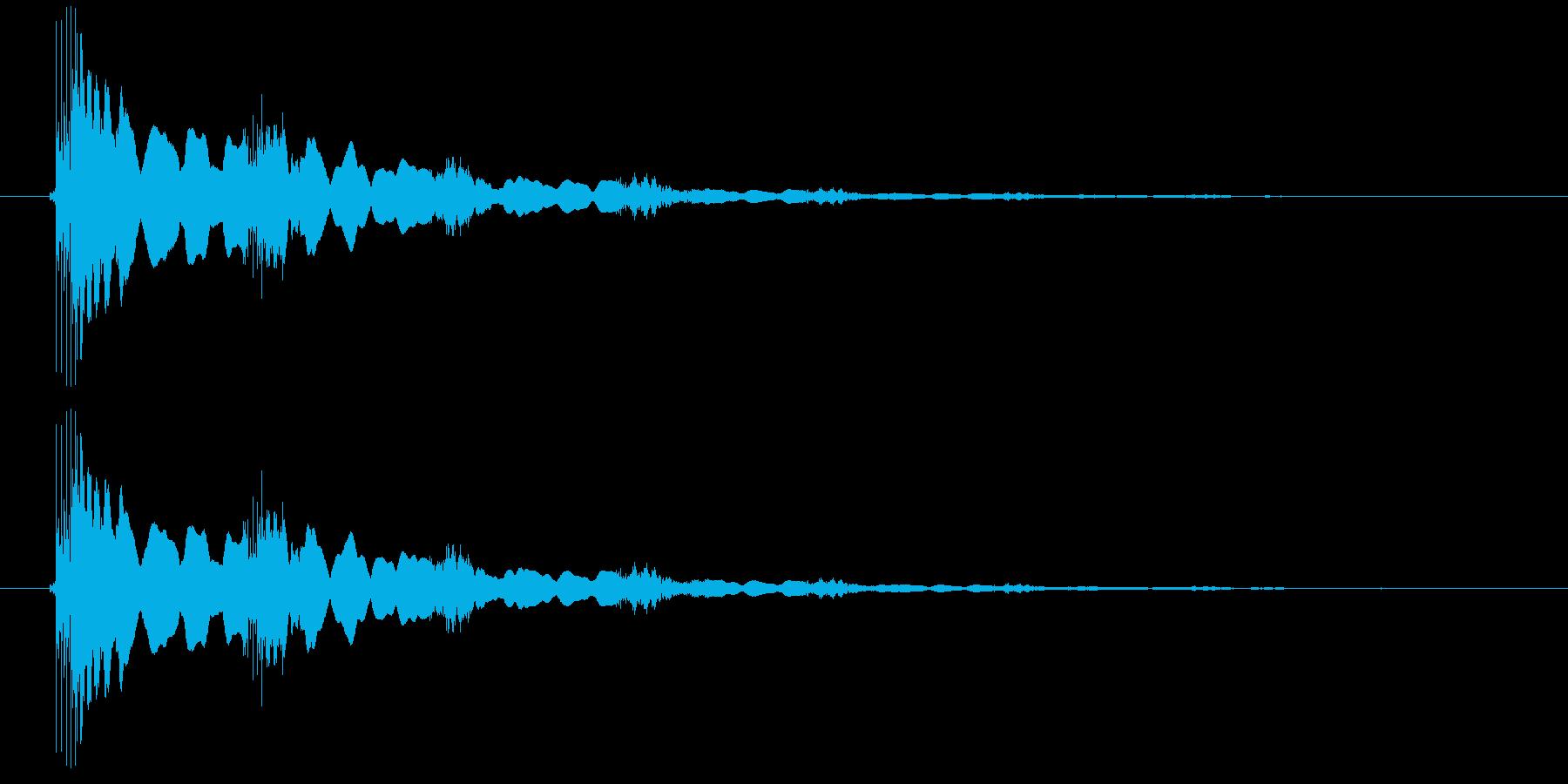 エレキギター(効果音)の再生済みの波形