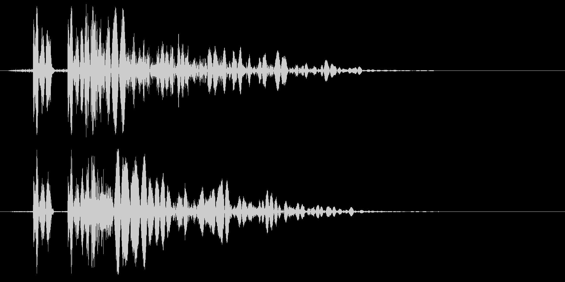 EDM/IDM系の埋もれないバスドラム2の未再生の波形
